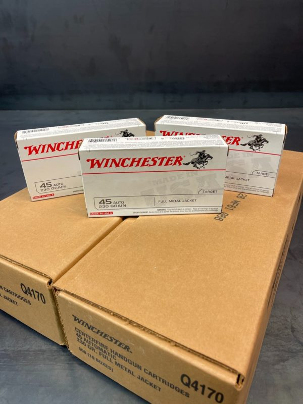 Winchester 45 Auto 230 Grain Full Metal Jacket - 50 Round Box
