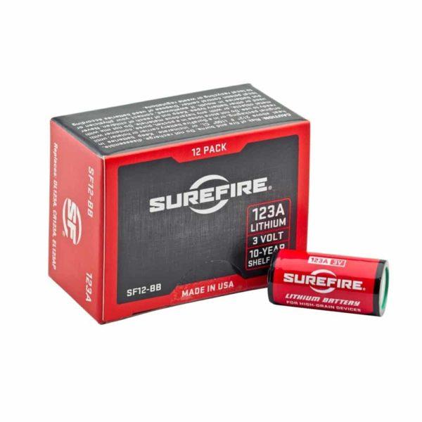 Surefire 123A Lithium Batteries - 12 Pack